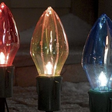 Christmas Outdoor Decor 8-piece Big Bulb Christmas Light Set