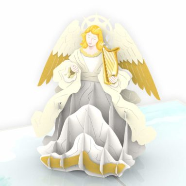 Colorpop 3D Christmas Angel Pop Up Card