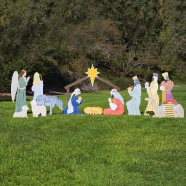 Complete Outdoor Nativity Set