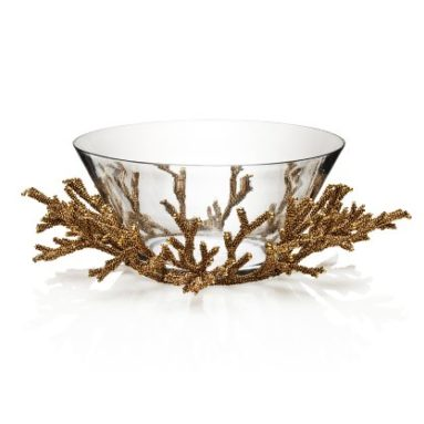 Gold Coral Bowl