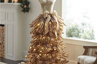 DRESS christmas prelit tree