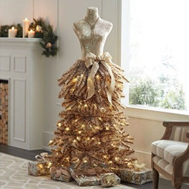 DRESS christmas prelit tree