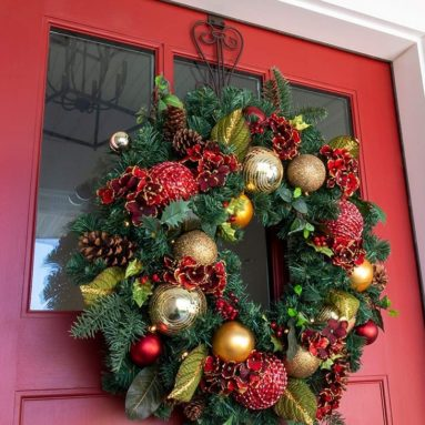 Decorated Christmas Wreath
