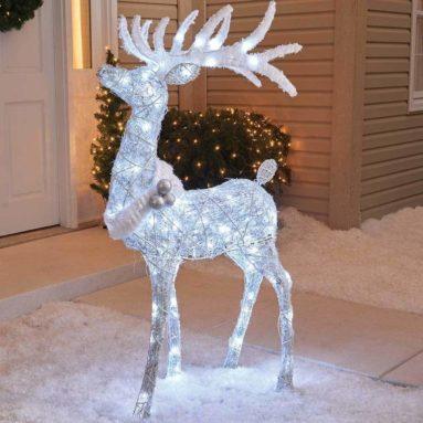 Deer Christmas Yard Lawn Decoration Garden Sculpture