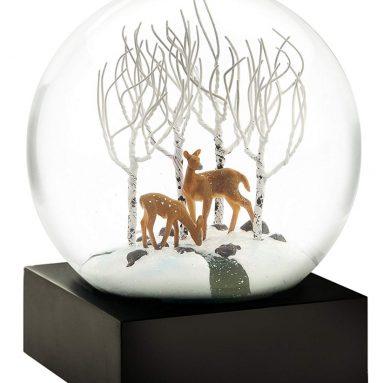 Deer in The Woods Snow Globe