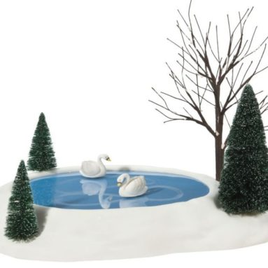 Department 56 Village Swan Pond Animated Accessory