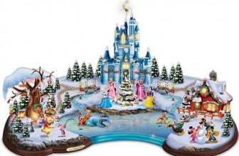 Disney Light Up Christmas Cove Village Sculpture