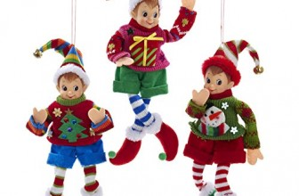 Elf IN Sweater Ornament Set