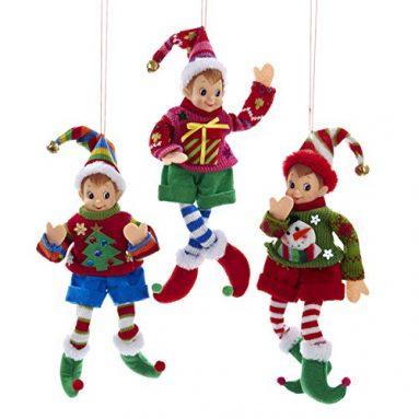 Elf IN Sweater Ornament Set
