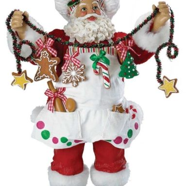 Fabriche Christmas Chef Santa Figurine