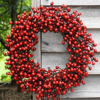 Festive Red Berry Wreath 22
