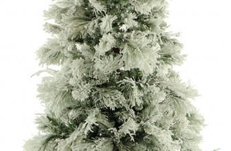 Flocked Snowy Pine Christmas Tree