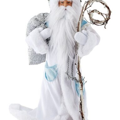 Forest Frost by Large Santa Figurine