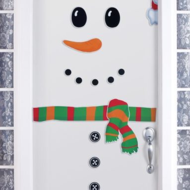Front Door Winter Snowman Magnet Set