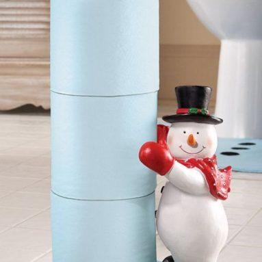 Frosty Friend Snowman Toilet Paper Holder
