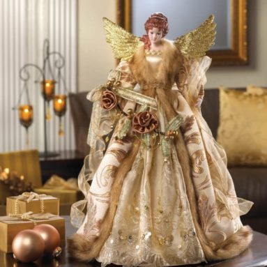 Golden angel tree topper