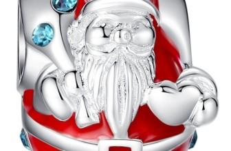 Christmas Charm Swarovski 925 Sterling Silver Fits Pandora Bracelet