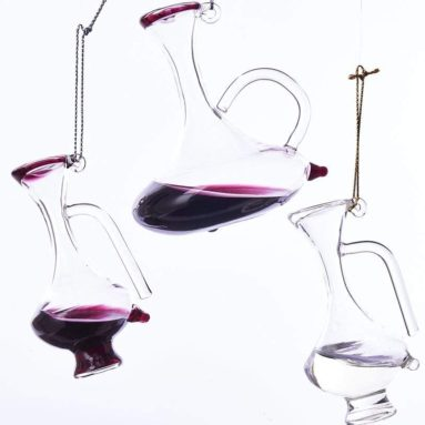 Glass Wine Decanter Ornament