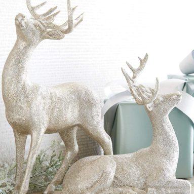 Glitter Christmas Deer Set