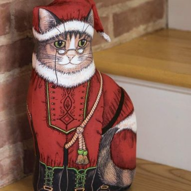 Grandpa Claus Cat Door Stop