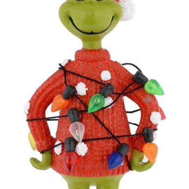 Grinch Lights Sweater Ornament