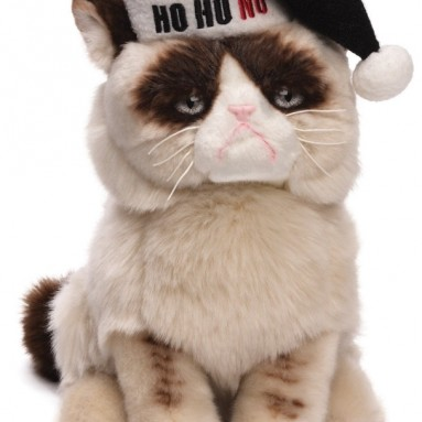 Grumpy Cat Plush Christmas Stuffed Animal