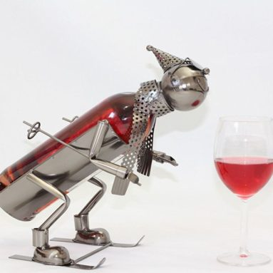 Handmade Metal Wine Bottle Caddy