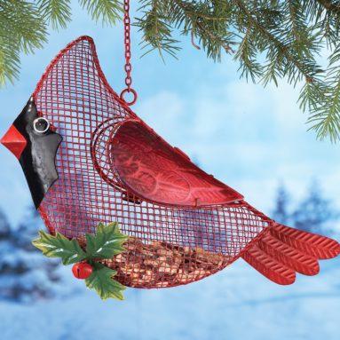 Hanging Outdoor Cardinal Bird Feeder