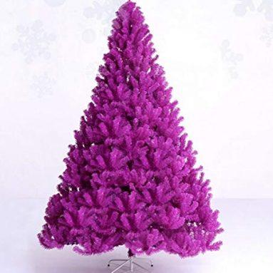 Purple artificial Christmas Tree