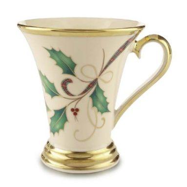 Holiday Mug with 24 karat gold