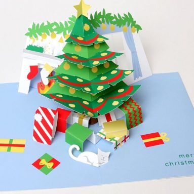 Holiday Room Boxed Pop Up Cards