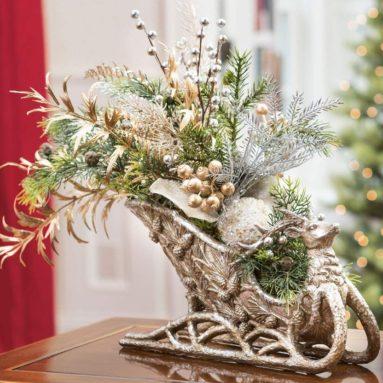 Holiday Sleigh Silk Centerpiece