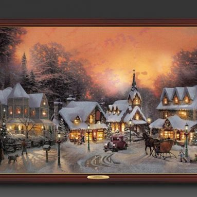 Illuminated Sleigh Ride Canvas Print
