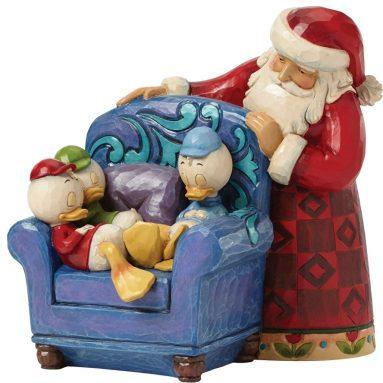 Jim Shore for Enesco Disney Traditions by Santa with Huey Dewey and Louie Figurine