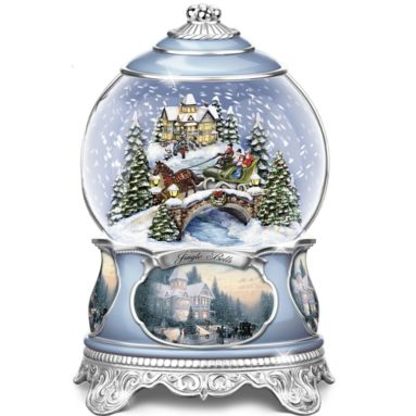 Jingle Bells Christmas Musical Snowglobe