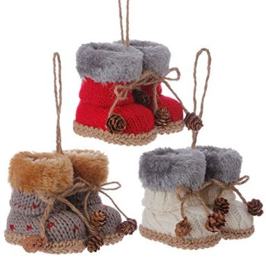Knit Boots Ornaments