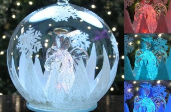 LED Glass Globe Christmas Tree Ornament