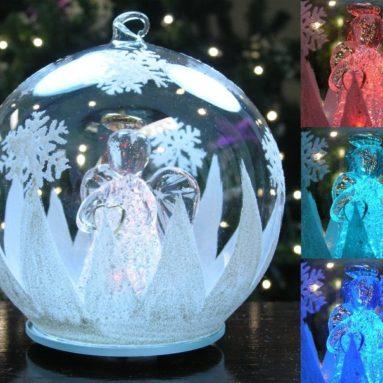LED Glass Globe Christmas Tree Ornament
