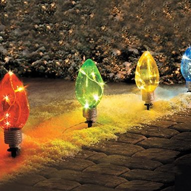 LED Lighted Christmas Bulb Pathway Markers