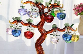 Large Crystal Glass Apple Tree Ornaments
