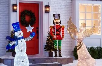 Led Snowflake Lights 3d Outdoor Christmas Decoration Solar