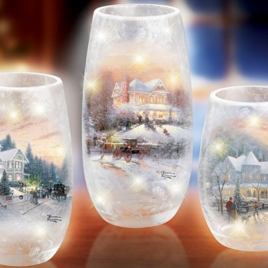 Light Up Luminaria Sculptures with Frosted Glass Look