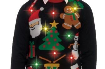 Light-Up Ugly Christmas Sweater
