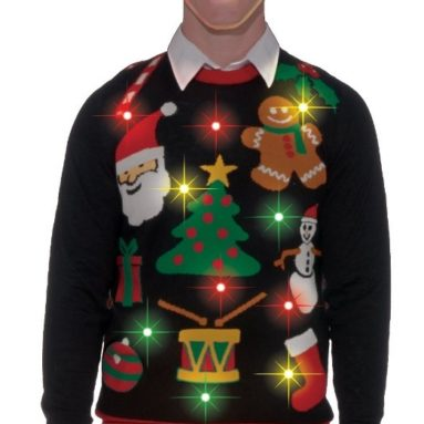 Light-Up Ugly Christmas Sweater