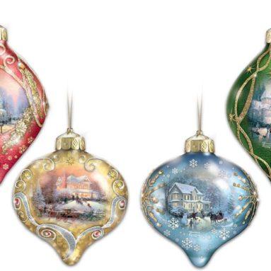 Light Up the Season Illuminated Glass Ornaments