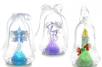 Light up Christmas Glass Ornament