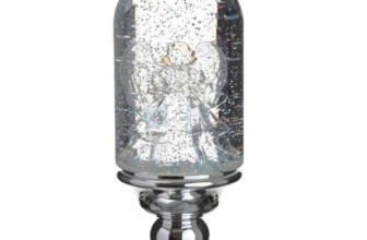 Lighted Christmas Angel Water Snow Globe