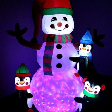 Lighted Christmas Inflatable Three Cute Penguins