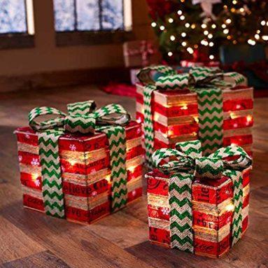 Lighted Gift Box Decor