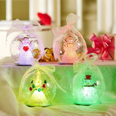 Lighted Glass Ornament